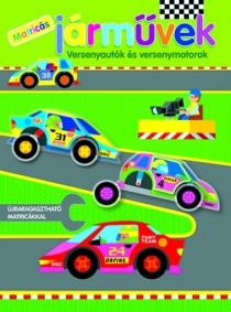 Járművek - versenyautók és versenymotorok - Újraragasztható matricákkal