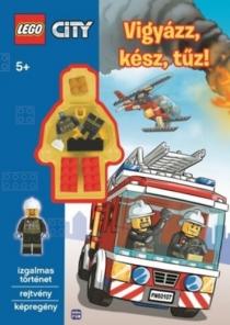 LEGO City - Vigyázz, kész, tűz! - Izgalmas történet, rejtvény, képregény - Ajándék minifigurával