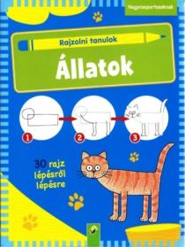 Állatok - Rajzolni tanulok - 30 rajz lépésről lépésre