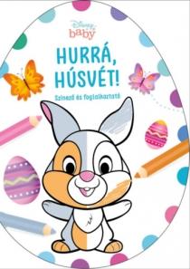 Hurrá, Húsvét! - Színező és foglalkoztató - Disney Baby tojás alakú színező